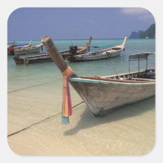Thailand, Andaman Sea, Ko Phi Phi Island, Square Sticker