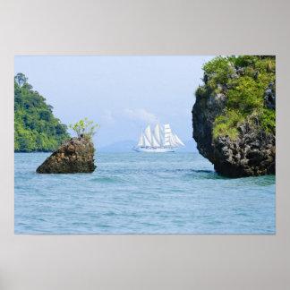 Thailand, Andaman Sea. Star Fyer clipper ship 2 Poster