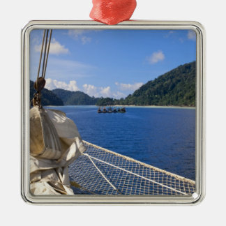 Thailand, Andaman Sea. Star Fyer clipper ship Silver-Colored Square Decoration