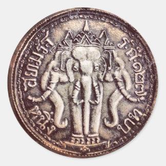 Thailand Baht Elephant Coin Stickers