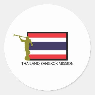 THAILAND BANGKOK MISSION LDS CTR ROUND STICKER