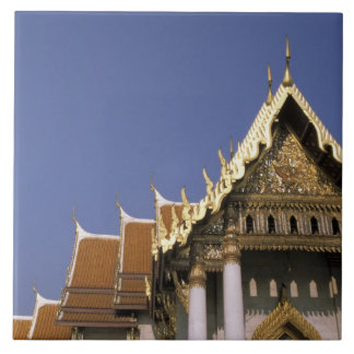 Thailand, Bangkok. Morning sun reflects off the Large Square Tile