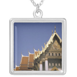 Thailand, Bangkok. Morning sun reflects off the Square Pendant Necklace