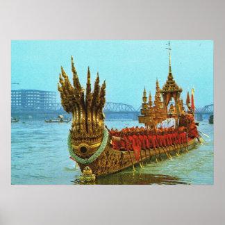 Thailand, Bangkok, Royal barge Poster