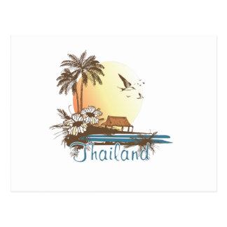 Thailand Beach Hut Postcard