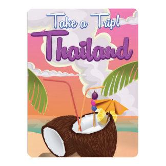 Thailand beach vacation poster 17 cm x 22 cm invitation card