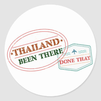 Thailand Been There Done That Round Sticker
