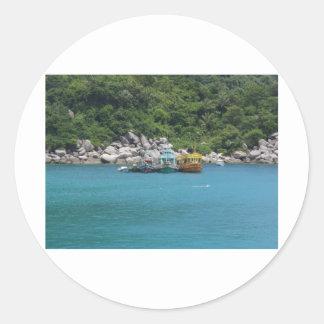 Thailand Boats Round Sticker
