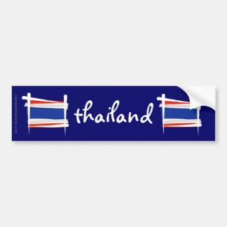 Thailand Brush Flag Bumper Sticker