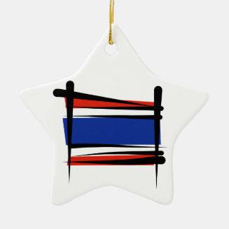 Thailand Brush Flag Ceramic Star Decoration