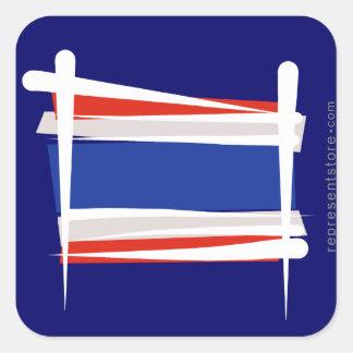 Thailand Brush Flag Sticker