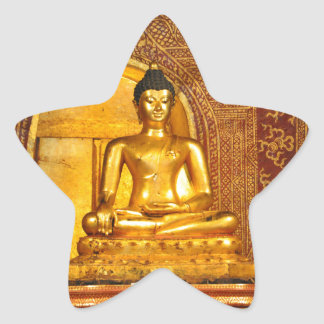 thailand buddha star sticker