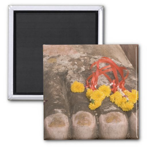 Thailand, Buddha's feet and Marigold offering Magnets