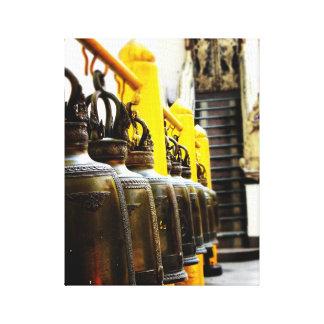 Thailand Buddhist Temple Bells Travel Canvas