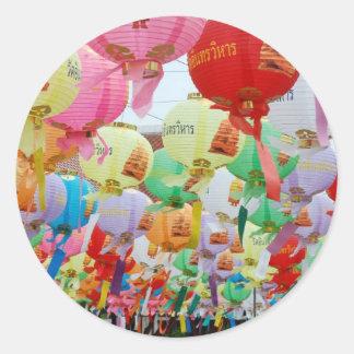 Thailand Buddhist Temple Celebration Round Sticker