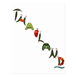 Thailand Chili Peppers Postcard
