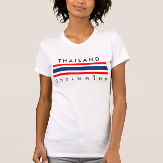 Thailand country flag nation symbol name text T-Shirt