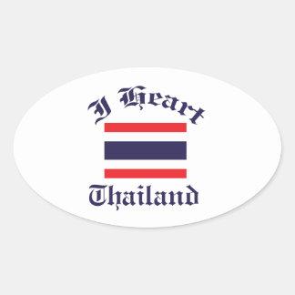 Thailand design oval sticker