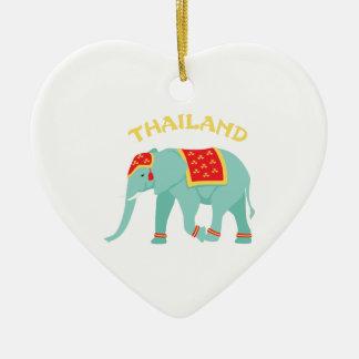 Thailand Elephant Ceramic Ornament