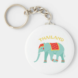 Thailand Elephant Key Ring