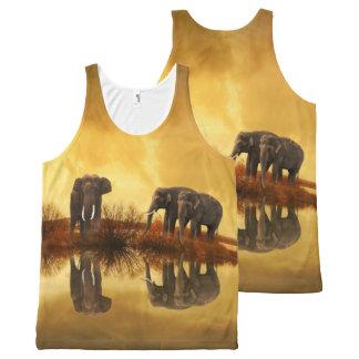 Thailand Elephants 1 All-Over Print Tank Top