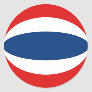 Thailand Fisheye Flag Sticker