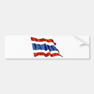 thailand flag bumper sticker