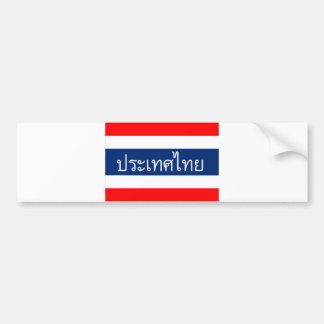 thailand flag country thai text name bumper sticker