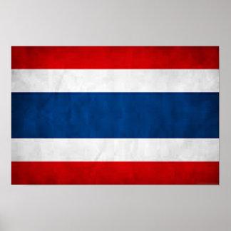 Thailand Flag (Grunge) Poster