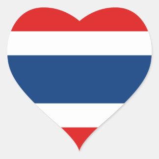 Thailand Flag Heart Sticker