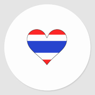 Thailand Flag Heart Stickers