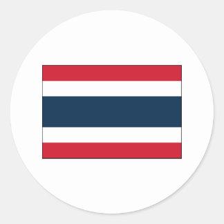 Thailand FLAG International Round Stickers