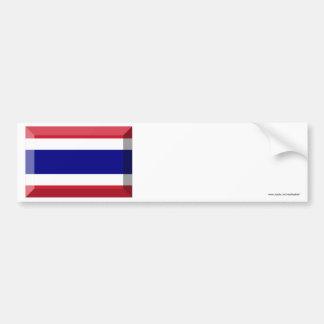 Thailand Flag Jewel Bumper Sticker