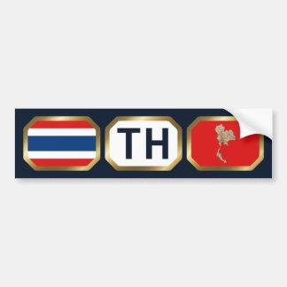 Thailand Flag Map Code Bumper Sticker