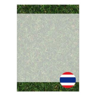Thailand Flag on Grass 13 Cm X 18 Cm Invitation Card
