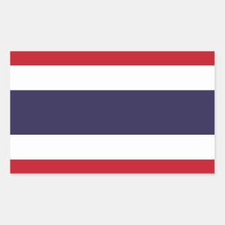 Thailand flag rectangular sticker