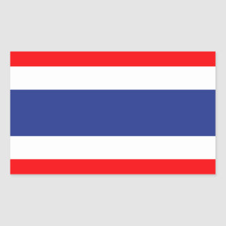 Thailand Flag Rectangular Sticker