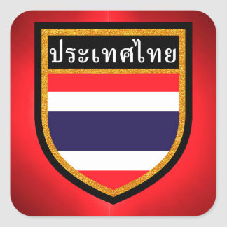 Thailand Flag Square Sticker