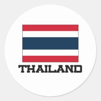 Thailand Flag Round Sticker