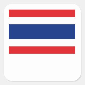 Thailand Flag Square Stickers