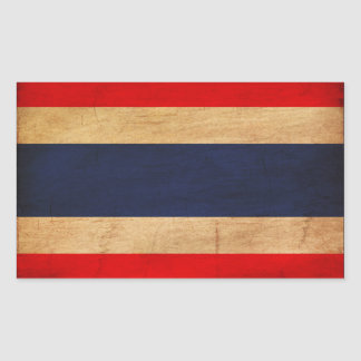 Thailand Flag Rectangle Stickers