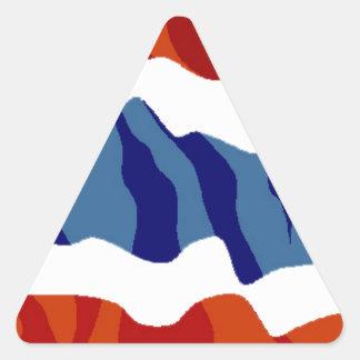 thailand flag triangle sticker