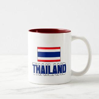 Thailand flag Two-Tone coffee mug