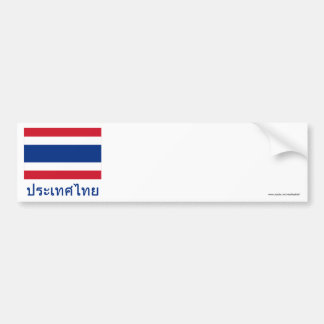 Thailand Flag with Name in Thai Bumper Sticker