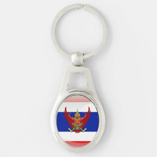 Thailand glossy flag key ring