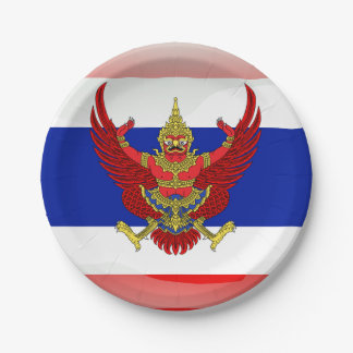 Thailand glossy flag paper plate