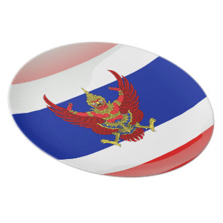 Thailand glossy flag plate