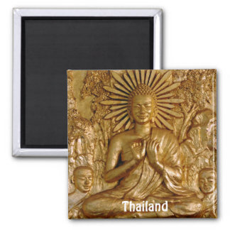 Thailand, Gold Sitting Buddha (Fridge Magnet) Magnet