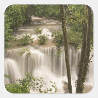 Thailand, Huai Mae Khamin Waterfall Square Sticker