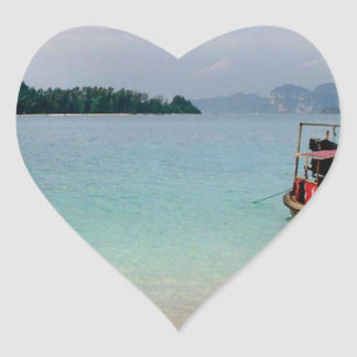 Thailand Krabi beach (new) (St.K) Heart Sticker